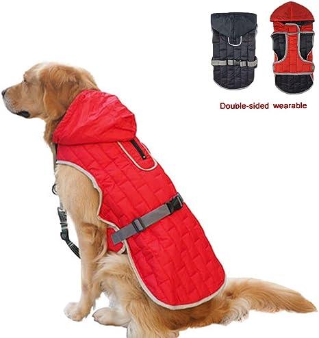 extraweiche rot winddichte Hundeweste sehr warm f/ür Winter und kaltes Wetter JoyDaog 2-lagige mit Fleece gef/ütterte Hundejacke