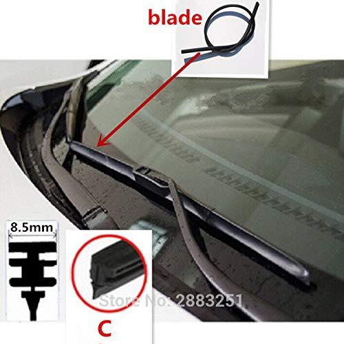 Escobilla limpiaparabrisas de goma para Renault Duster Captur Logan Megane 2 3 clio 2 3 4 accesorios para coche: Amazon.es: Bricolaje y herramientas