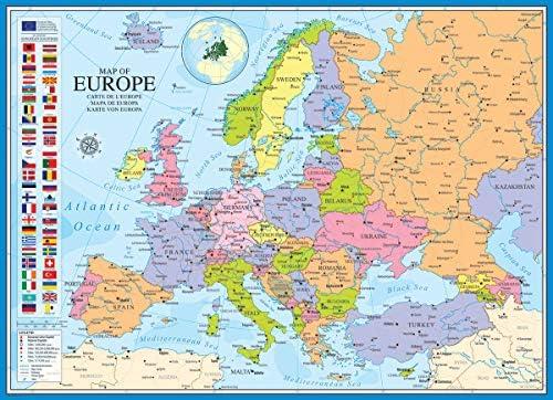 Eurographics Puzle (1000 Piezas) 6000-0789, diseño de Mapa de ...