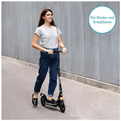 COSMOLINO Scooter – Trottinette Adulte – Trottinette Enfant – Pliable – Hauteur Réglable