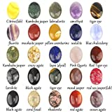 gem mart usa - Wholesale Gemstone Mix Kinds of Jasper Agate Oval Shape Cabochon CAB Flatback Ring Face, DIY Jewelry Accressory (30x22mm 20pcs)