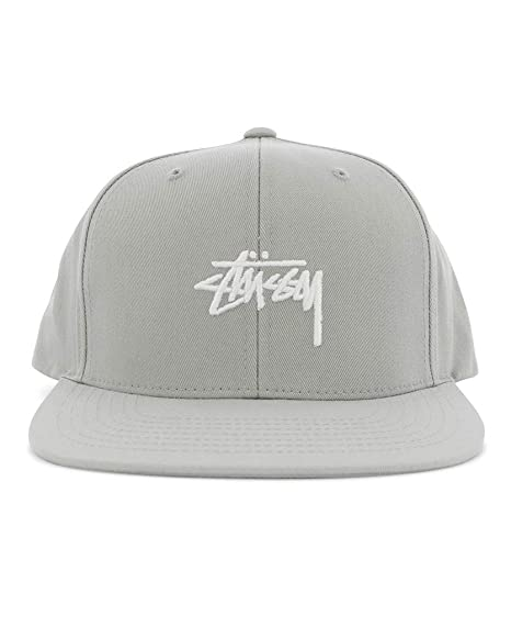 e10e4aeb2d9 Stussy Stock Snapback Cap Grey  Amazon.co.uk  Clothing