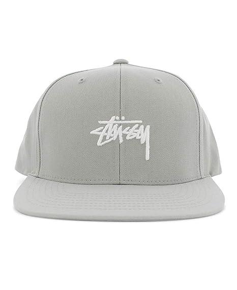 Stussy Cappello Snapback Stock SP18 cap Grey Snap  Amazon.it  Abbigliamento 850a0aa4e857