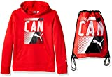 PUMA Big Boys' Canada Olympic Hoodie and Carry Sack, Red, Large (14/16)