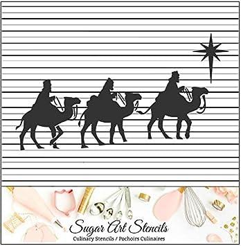 Amazon Com Wise Men Christmas Nativity Cookie Stencil Ltw87