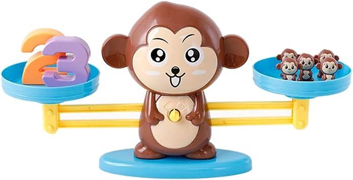 Fenteer Juego De Mesa para Niños Mono Escala Juguetes Número Coincidencia Adición Resta: Amazon.es: Juguetes y juegos