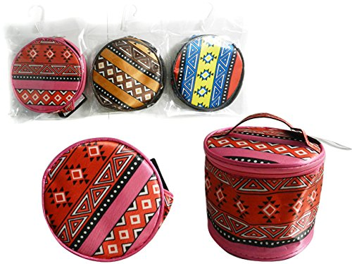 Cosmetic Makeup Bag 6.7''Dia x 4.3''H , Case of 144 by DollarItemDirect