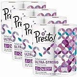 Presto! Ultra-Strong Toilet Paper, 308-Sheet Mega Roll, 24 Count
