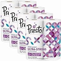 Amazon Brand - Presto! Ultra-Strong Toilet Paper, 308-Sheet Mega Roll, 24 Count