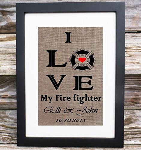 Firefighter Gift | My Heart Belongs to a Fireman | Firefighter Gift | Gifts for Firefighter Husband Wife | Boyfriend Gift | Husband Gifts
