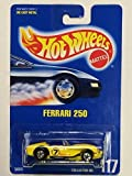 1991 Mattel Vintage Hot Wheels Ferrari 250 Yellow Racing Graphics 1:64 Scale Die Cast Collector #117 Moc Out Of Production Limited Edition Collectible