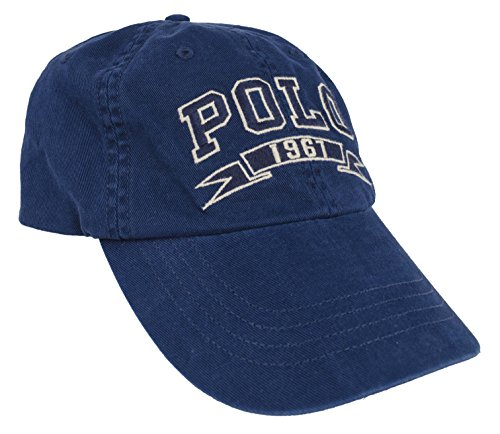 Polo Ralph Lauren Men s Cotton Chino Sports Embroidered Polo 1967 Banner  Logo Varsity Baseball Cap (Holiday Navy) - Buy Online in UAE. a5b9af5af507