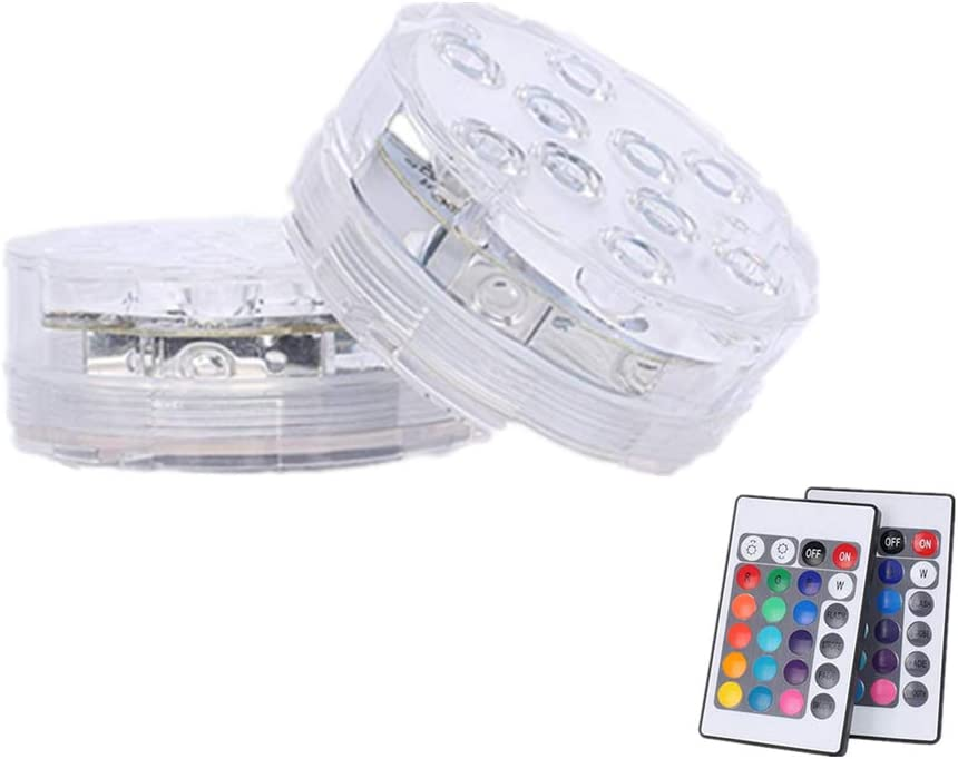 Disco De Luz Led O Luces Led Control Remoto Pod-Sumergible 2 PC con mandos a distancia