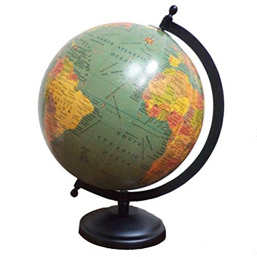Imlistreet Home Decor Earth World Globe Desktop Ocean Globe Iron Stand Rotating Globe