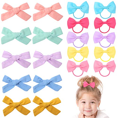 Girls Hair Bow Clips, 20PCS Hair Barrettes Hair Ties Kids Party Gift