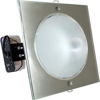 InterLight Close to Ceiling Lights 2x26 Square 523Chrome Matt Iced Remaluz Spanish