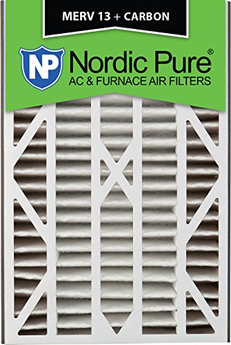 Nordic Pure 16x25x3 MERV 13 Plus Carbon Trion Bear Cub 266649-101 Replacement Pleated AC Furnace Air Filter, 1 Pack
