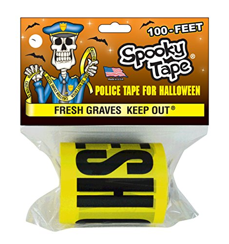 Spooky Tape - FRESH GRAVES KEEP OUT - 100 Feet! -