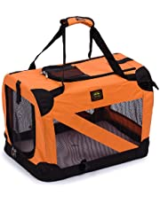 Pet Life Folding Zippered 360° Vista View House Carrier (features 3M Thinsulate): Orange, X-Small