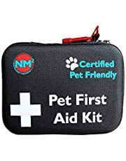 Pet First Aid Kit for Dogs & Cats   New 60 Piece First Aid Bag for Pets, Animals   Perfect for Travel Emergencies with Pet First Aid Guide Book and Instructions   Certified Pet Friendly