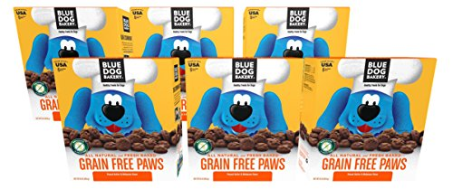 Blue Dog Bakery Grain-Free Dog Biscuits | All-Natural | Peanut Butter & Molasses | 16oz (Pack of 6) (Dog Bakery Low Fat)