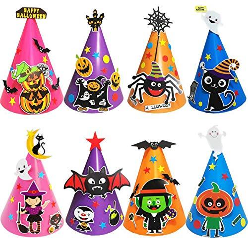 (DIY Cute Handmade Cap Baby Halloween Decoration Children Hat Cap Boy Girl Gifts Halloween Supplies for Party)