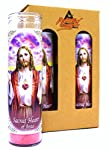 "4-Pack Sacred Heart of Jesus | 8"" Tall Unscented Religious Prayer Candles 