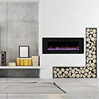 R.W.FLAME Electric Fireplace, Recessed W...