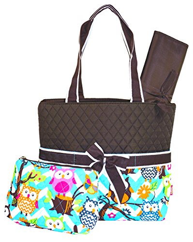 quilted owl diaper bag - 8