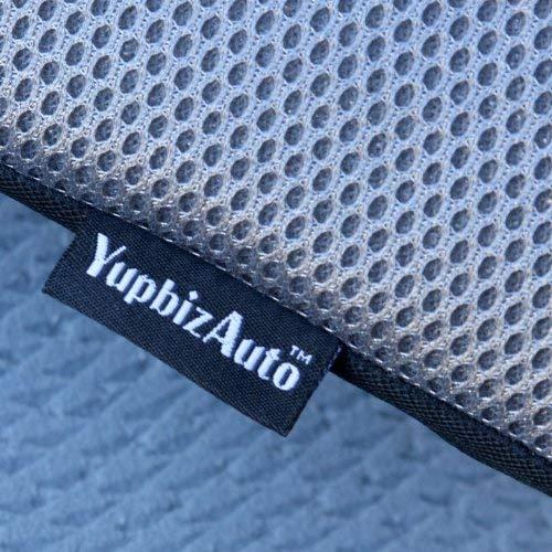 Yupbizauto New Breathable Mesh Fabric Comfortable Ergonomic Car Seat Cushion Black
