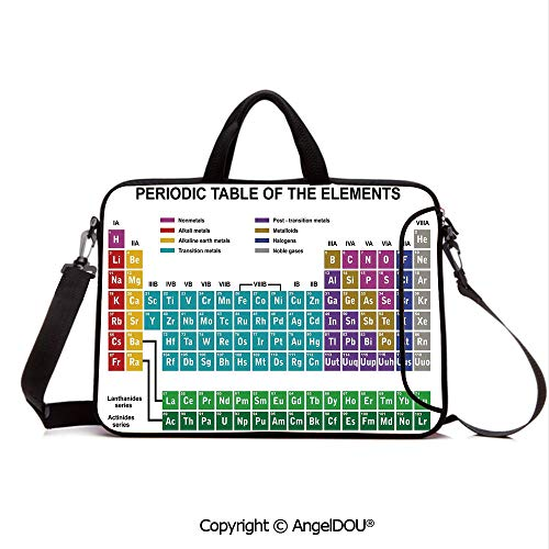 Trend Lab Messenger - AngelDOU Customized Neoprene Printed Laptop Bag Notebook Handbag Educational Artwork for Classroom Science Lab Chemistry Club Camp Kids Print Compatible with mac air mi pro/Lenovo/asus/acer Multi