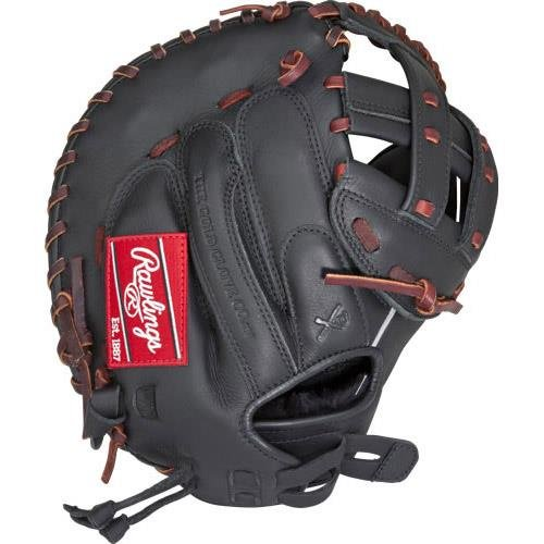 Rawlings Gamerシリーズ ソフトボールブローブ B01HI4JZEM Black First Base Mitt|12.5インチ Black First Base Mitt