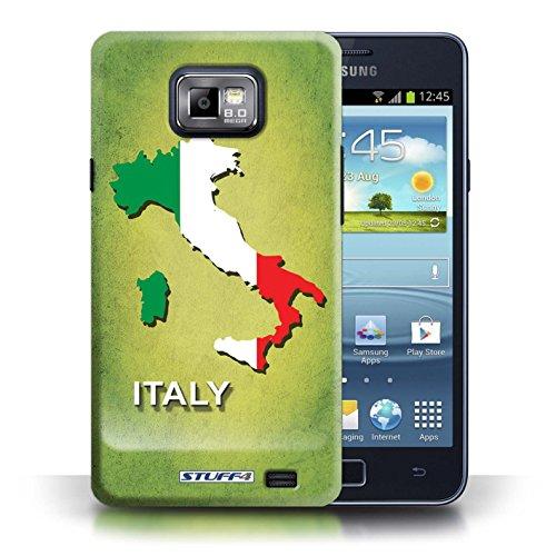 Kobalt® Imprimé Etui / Coque pour Samsung Galaxy S2/SII / Italie/Italien conception / Série Drapeau Pays