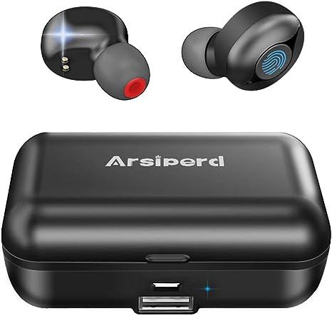 Auriculares Inalámbricos Bluetooth 5.0, Auriculares Deportivos En La Oreja, 60H ReproduccióN CancelacióN de Ruido 3D Ipx5 Resistente al Agua,