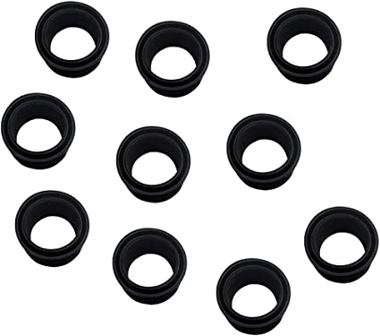 5x Rubber Insert Tube Protector W// Cap Fishing Rod Holder Pole Rest Support