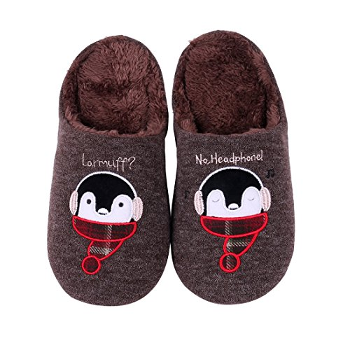 Cute House Slippers Dog Penguin Animal Indoor Home Slippers Winter Fuzzy Bedroom Slippers For Kids (Mens Hedgehog)