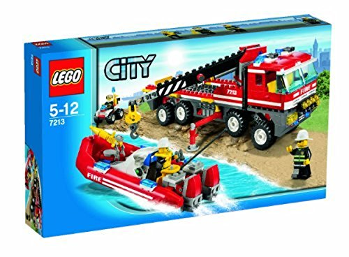 LEGO City Set #7213 OffRoad Fire Truck & Fireboat (Bike Quad Lego)
