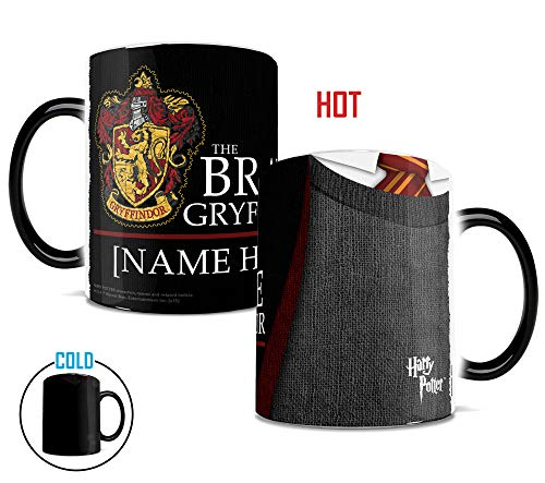 Morphing Mugs Harry Potter Gryffindor Robe Heat Reveal Ceramic Coffee Mug - 11 Ounces - PERSONALIZED - Add your name!