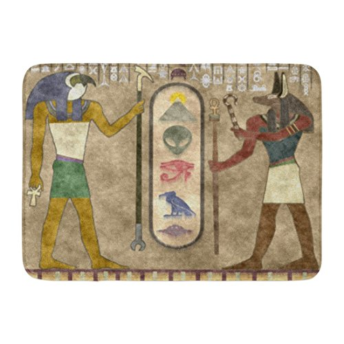 Ablitt Bath Mat Ufo Ancient Aliens Paranormal Unexplained Novelty Bathroom Decor Rug 16'' x 24'' by Ablitt