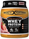 Body Fortress Super Advanced Whey Protein Powder, Great for Meal Replacement Shakes, Strawberry, 2 lbs