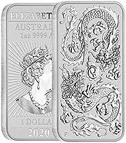 2020 AU 1 oz Silver Australian Dragon Dollar Coin $1 Dollar Uncirculated
