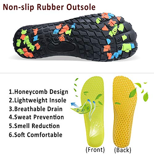 Mens Womens Water Sports Shoes Quick-Dry Lightweight Barefoot Wide Feet Toe Solid Drainage Sole for Swim Diving Surf Aqua Pool Beach Jogging Trip by PENGCHENG (Image #5)