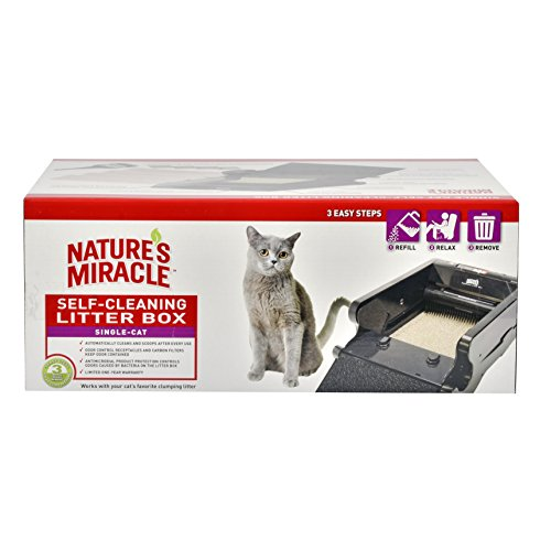 046798775256 - Nature's Miracle Nature's Miracle Single-Cat Self-Cleaning Litter Box (NMA500) carousel main 0