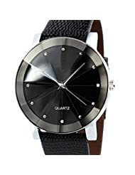 DaySeventh Men Luxury Quartz Sport Military Stainless Steel Dial Leather Band Wrist Watch