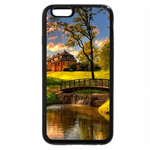 iPhone 6S / iPhone 6 Case (Black) Country house in autumn