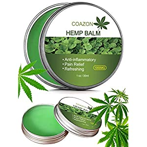 Hemp Salve for Pain Relief – Max Strength | 100% Natural Ointment | Perfect for Knee, Joint, and Back Pain-30ml(1000mg Hemp Extract)