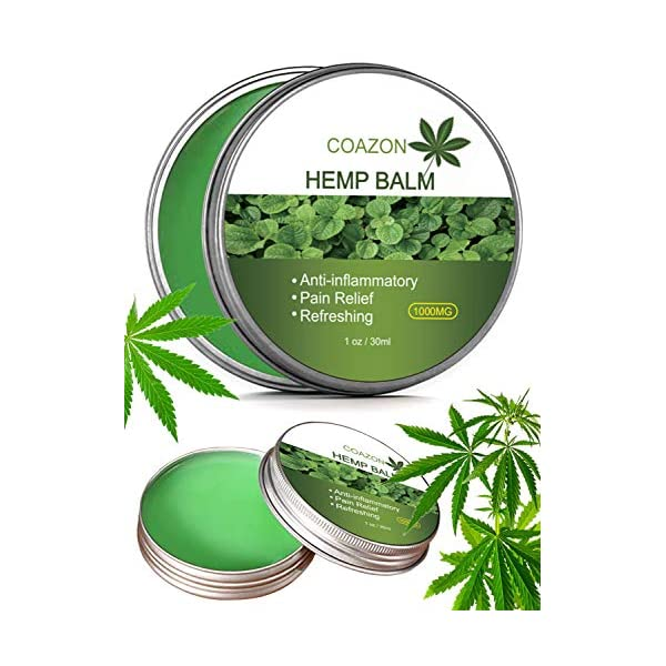 Hemp Salve for Pain Relief – Max Strength | 100% Natural Ointment | Perfect for Knee, Joint, and Back Pain-30ml(1000mg)