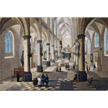 The Perfect effect canvas of oil painting 'Francken III Frans Neefs Pieter I Interior de una iglesia en Flandes ' ,size: 8 x 12 inch / 20 x 30 cm ,this High Resolution Art Decorative Canvas Prints is fit for Bathroom decor and Home gallery art and Gifts