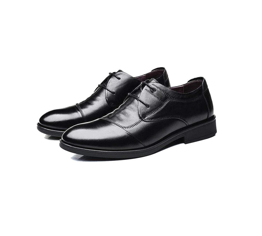 91ab1753875eb Marrones Negros con Cordones Zapatos De Caballero Caballero Zapatos De Boda  Puntiagudos Casuales Cuatro Estaciones.  Amazon.es  Zapatos y complementos