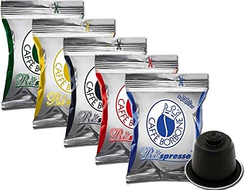 3 opinioni per 5x50 capsule Borbone Respresso DEGUSTAZIONE 50 NERA, 50 BLU, 50 RED, 50 ORO,50